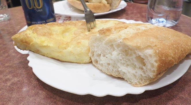pincho tortilla la campana